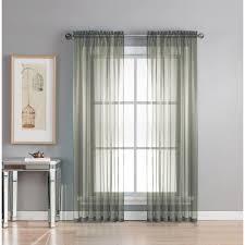 window elements sheer diamond sheer indigo rod pocket extra wide