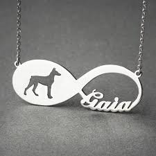infinity necklace with name doberman infinity necklace cat jewelry cat necklace hudoca