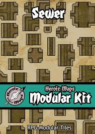 heroic maps modular kit sewer heroic maps caverns u0026 tunnels