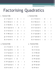 factorising quadratics worksheets by holyheadschool teaching