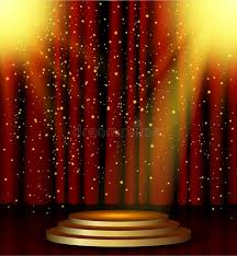 Theater Lighting Stage Lighting Background With Spotlight Effects Stock Vector