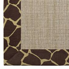 sisal rugs with pattern borders creative rugs decoration