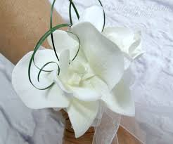 white orchid corsage wedding corsage white orchid wrist corsage of the