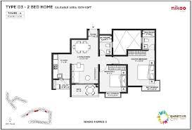 2 D As Built Floor Plans | floor plans of bhartiya city nikoo homes designed by nikoo homes 2