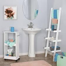 Leaning Ladder Shelf White Amazon Com Riverridge Home Ladder Shelf White Home U0026 Kitchen