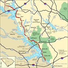 sc highway map river scenic byway map america s byways