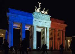 Paris Flag Image File Brandenburg Gate In French Flag Colours After Paris Attack