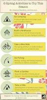infographic 6 spring activities for outdoor enthusiasts active