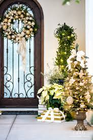porch silver and gold christmas front porch randi garrett design
