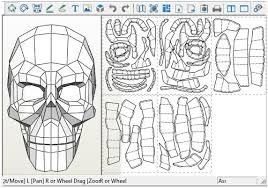 Skull Viewer Papermau Death Skull Paper Model By Forbidden County Silver