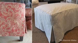 Slipcover Ottoman Ottoman Slipcovers The Slipcover Maker