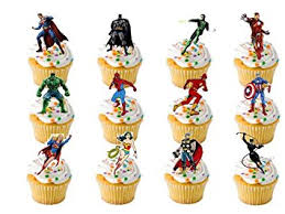 marvel cake toppers 12 x large marvel premium quality stand up