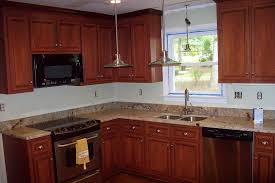 Granite Countertops With Cherry Cabinets Project Portfolio Kitchen Remodeling Kitchen Refacing