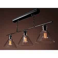 Edison Island Light Amerie 3 Light Black Island Edison Chandelier With Bulbs Free