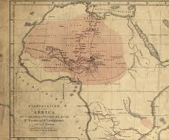 sketch map of africa with a comparative overview of the journeys