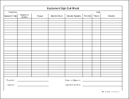 Inventory Sign Out Sheet Template Sign Out Sheet Template Equipment Sign Out Sheet Template 14