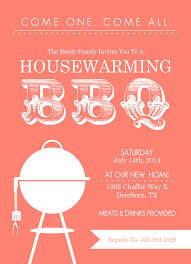 where to register for housewarming coral modern bbq housewarming invitation by purpletrail