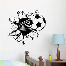 home decor 3d stickers creative home decor 3d wall stickers football broken wall pattern