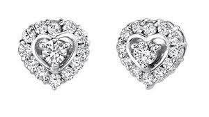 heart shaped diamond earrings husar s house of diamonds earrings