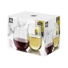 stemless wine glasses libbey vina 12 piece stemless red and white wine glasses in clear