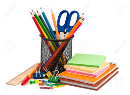 stationery set stationery set on white background stock photo picture and