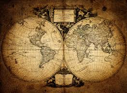 1752 vintage world map wallpaper wall mural by loveabode com