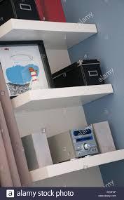 teenager bedroom stock photos teenager bedroom stock images alamy white shelves in teenager bedroom stock image
