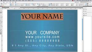 business card in indesign youtube