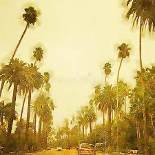 beverly los angeles stylized watercolor stock