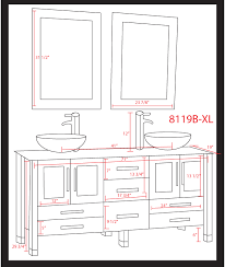 Standard Height Of Bathroom Mirror Avola 71 Inch White Bathroom Vanity Glass Top