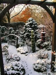 winter in the lower garden walsall england gardens