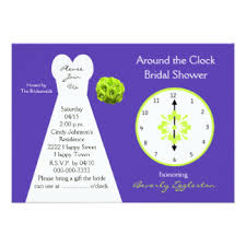 around the clock bridal shower around the clock invitations announcements zazzle