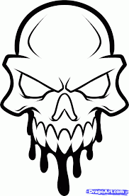 how to draw a skull head skull head tattoo step by step skulls