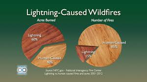 Wildfire Yosemite 2013 by Lightning Caused Wildfires Climate Central