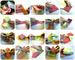 Origami Gift Wrapping Diy Origami Box Wrappily