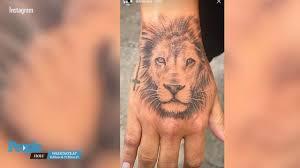 demi lovato just got a new lion tattoo