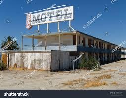 abandoned hotel near salton sea southern stock photo 20527487