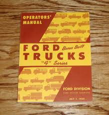 1950 ford bonus built truck f series owners operators manual 50