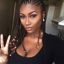 Braided Hairstyles With Weave Braids Natural Hair Pinterest Hair Style Protective Styles