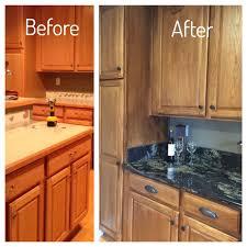 can you refinish oak kitchen cabinets kitchen cabinet makeover 2 coats of minwax polyshade tudor