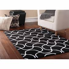 Black And White Modern Rug by Modern Abstract Pattern Gray Black White Shag Rug With