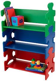 Toybox With Bookshelf Amazon Com Kidkraft Puzzle Book Shelf Primary Toys U0026 Games