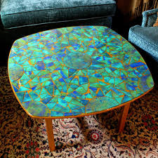 Mosaic Table L Montano Cardboard Mosaic Table With Gel Press Home Lighting