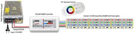 led strip lights wifi controller quad row led tape lighting with multi color white leds outdoor