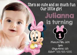 baby minnie mouse 1st birthday invitation partyexpressinvitations