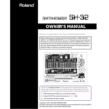 download free pdf for roland sh 32 music keyboard manual