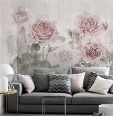 misty watercolor rose wallpaper vintage fresh smokey flower