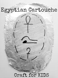 make your own egyptian cartouche craft for kids surviving a