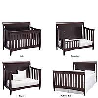 Crib Converts To Toddler Bed Delta Children Bennington Elite Sleigh 4 In 1 Convertible Crib