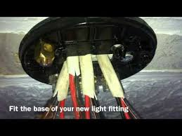 how to change a light fitting youtube